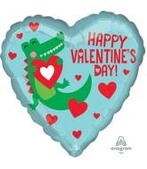 "18"" Happy Valentine's Day Gator Foil Balloon"