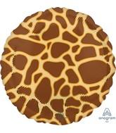 "18"" Giraffe Print Animalz Foil Balloon"