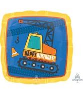 "18"" Construction Happy Birthday Foil Balloon"
