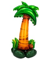 "58"" Airfill Only Airloonz Consumer Inflatable Palm Tree Foil Balloon"