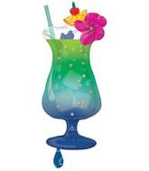 "37"" SuperShape Tropical Blue Hawaiian Drink Foil Balloon"
