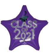"18"" Class of 2021 - Purple Foil Balloon"