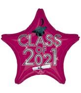 """18"""" Class of 2021 - Berry Foil Balloon"""