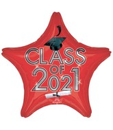 """18"""" Class of 2021 - Red Foil Balloon"""