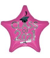 """18"""" Class of 2021 - Pink Foil Balloon"""