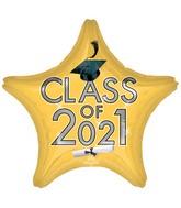 """18"""" Class of 2021 - Gold Foil Balloon"""