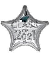 "18"" Class of 2021 - Silver Foil Balloon"