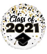 """18"""" Class of 2021 Confetti Foil Balloon"""