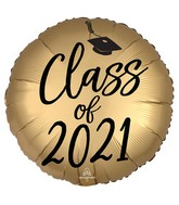 """18"""" Satin Infused Class of 2021 Foil Balloon"""