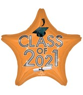 "18"" Class of 2021 - Orange Foil Balloon"