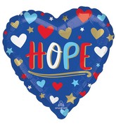 "18"" Unity Hope Heart Foil Balloon"