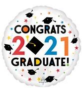 """18"""" Congratulations 2021 Foil Balloon"""