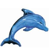 "40"" Blue Dolphin Foil Balloon"