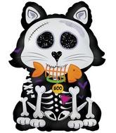 """24"""" Skeleton Kitty Foil Balloon"""