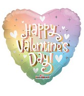"""9"""" Aifill Only Happy Valentine Day Soft Rainbow Foil Balloon"""