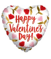 """36"""" Happy Valentine Day Roses Foil Balloon"""