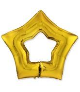 "34"" Gold Hole Star Foil Balloon"