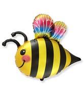 "33"" Happy Bee Foil Balloon"