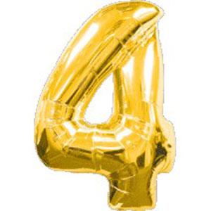 """34"""" Jumbo Gold #4 Foil Balloon"""