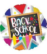 "17"" Back to School Pencils Foil Balloon"