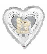 """18"""" Fuzzy Moon Congratulations Wedding Foil Balloon"""