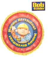 "18"" Happy Birthday Bob the Builder Foil Balloon"