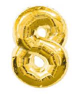 """34"""" Jumbo Gold #8 Foil Balloon"""