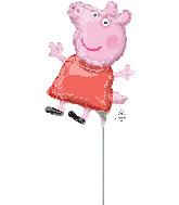 Airfill Only Mini Shape Peppa Pig Foil Balloon
