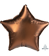 "18"" Satin Luxe Cocoa Star Foil Balloon"