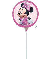 """4"""" Airfill Only Minnie Mouse Forever Foil Balloon"""