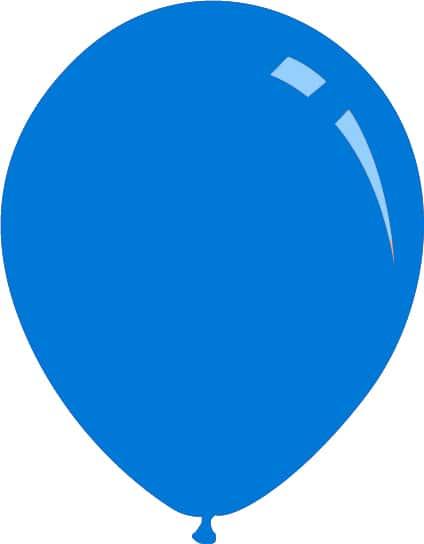 """26"""" Standard Blue Decomex Latex Balloons (10 Per Bag)"""