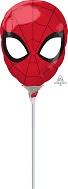Airfill Only Mini Shape Spider-Man Head Foil Balloon
