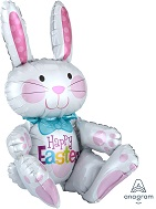 "24"" Airfill Only Sitting Bunny Balloon Packaged"