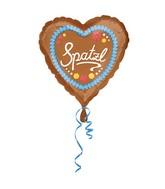 """18"""" Standard Spatzl Foil Balloon Heart"""