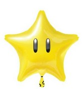 "18"" Standard ""Nintendo Super Star"" Foil Balloon Star"