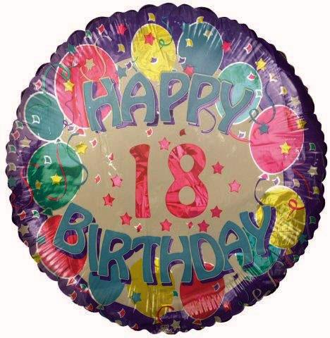 "18"" Happy 18th Birthday Foil Balloon"