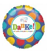 "18"" Standard Danke Foil Balloon"
