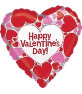 "18"" Standard Happy Valentine's Day Sparkles"