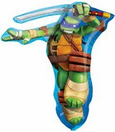 "28"" Jumbo Teenage Mutant Ninja Turtle TMNT LEONARDO Foil Balloon"