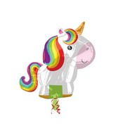 "21"" Jumbo SuperShape ""Playful Unicorn"" Foil Balloon"
