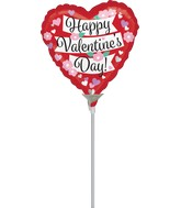 "9"" Aifill Only Value Happy Valentine's Day Banner Flowers"