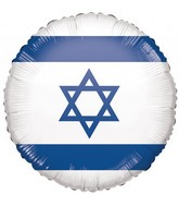 "18"" Israeli Flag Foil Balloon"