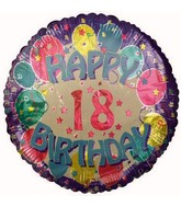 "18"" Happy 18th Birthday Foil Balloon"