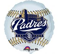 "18"" MLB San Diego Padres Baseball Balloon City Design"