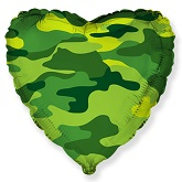 "18"" Heart Shaped Military Camouflage Foil Balloon"