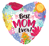 """9"""" Airfill Only Best Mom Ever Coral Foil Balloon"""