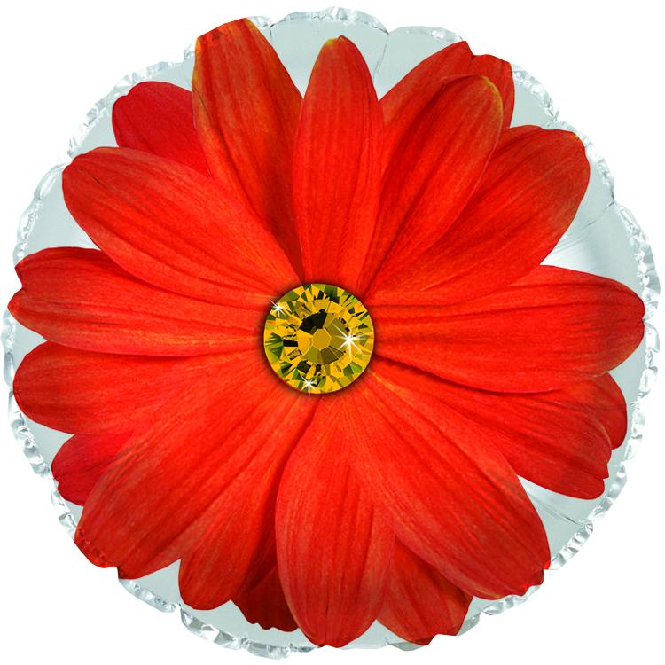 """17"""" Orange Gerbera Flower Foil Balloon"""
