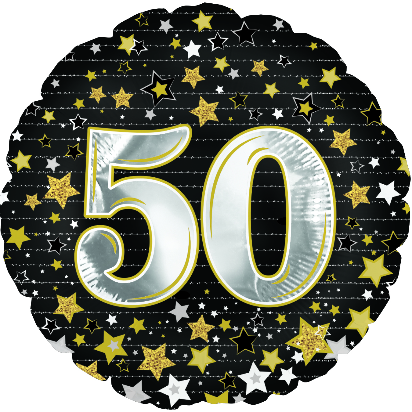 "18"" Happy Birthday Gold Number 50 Balloon"