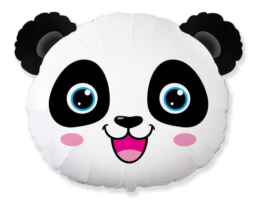 "25"" Panda Bear Head Foil Balloon"