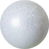 """18"""" Peacock Balloon Latex Balloon Silver (5 Count)"""